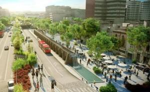 Un render de cómo sería el CCC propuesto sobre Avenida Chapultepec. Foto: Tomada de Internet.